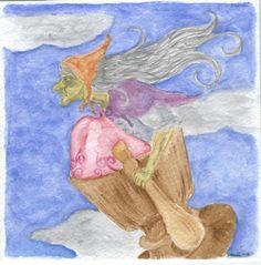 Baba Yaga - Watercolor.