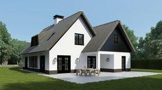 Love the black cladding of this chalet bungalow/house.  Huizen ontwerp Bertram Beerbaum | Kabaz