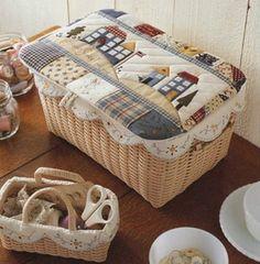 Un  cesto con tapadera puede convertirse en una caja guarda tesoros