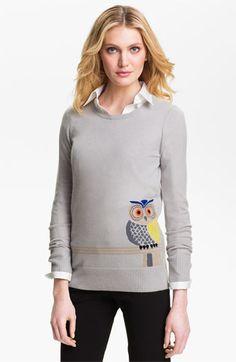 Christopher Fischer Owl Intarsia Cashmere Sweater | Nordstrom