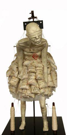 """""""Chapitre 7: Mon coeur en exil"""", #sculpture by #artist Bénédicte Parmentier only at #GalerieLeRoyer"""