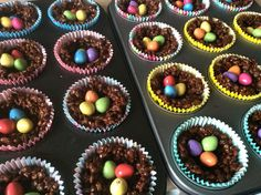 Easter nest Krispie cakes as far as the eye can see!