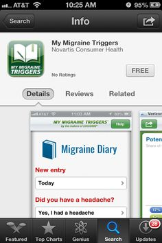 I just searched for the My Migraine Triggers app and found it in the Apple app store. #DRExcedrin
