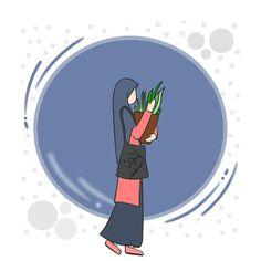 Hijab Cartoon, Line Art, Art Drawings, Wattpad, Cover, Slipcovers, Art Paintings, Line Drawings, Line Illustration
