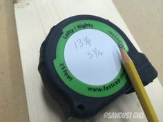 """I recently discovereda new tool/gadget that am pretty thrilled with and HADto share. I call this find the """"measuring tape of wonder""""and it is the best tape measure for woodworking and remodelin..."""