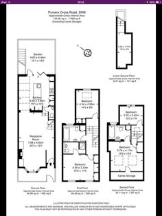 Great if you can open out passage, don't know how they got around fire regs. Side Return Extension, Rear Extension, Extension Ideas, Victorian Townhouse, Victorian Terrace, Loft Floor Plans, House Floor Plans, House Layout Plans, House Layouts