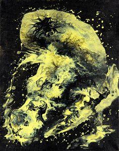 "Dreamscapes & Nightmares – Sammlungen – Google+ Furor (Acryl auf Leinwand) ""abstract painting canvas acrylics"""