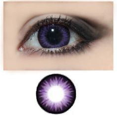 GEO Magic Color Circle lenses These expanding cosmetic contacts give you bigger Cool Contacts, Purple Contacts, Colored Eye Contacts, Eye Makeup Steps, Smokey Eye Makeup, Eye Contact Lenses, Green Smokey Eye, Halloween Contacts, Circle Lenses
