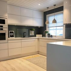 This would be the layout of our kitchen if we moved it to the game room. I like t … - White Kitchen Remodel Kitchen Dinning, Home Decor Kitchen, Interior Design Kitchen, New Kitchen, Home Kitchens, Decorating Kitchen, Kitchen Ideas, Awesome Kitchen, Kitchen Modern