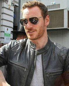 I just really enjoy seeing him in leather jacket.  Have a great weekend, guys! Be safe and be happy! #MichaelFassbender #Fassy #Fassbender