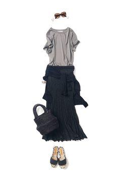 ボトムから、秋 / コーディネート詳細 / Kyoko Kikuchi's Closet | 菊池京子のクローゼット [ K.K closet ] Spring Summer Fashion, Autumn Fashion, Japan Outfit, Beige Top, Cool Style, My Style, Classic Outfits, Japanese Fashion, Fashion Outfits