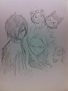 Frosch, Lector, Rogue, and Sting ~~ Fairy Tail