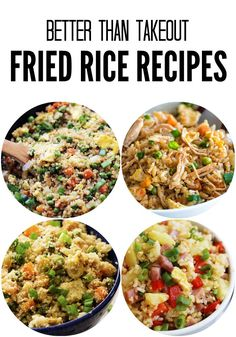 Better Than Takeout Fried Rice Recipes are delicious and easy and better than any takeout fried rice you will make!