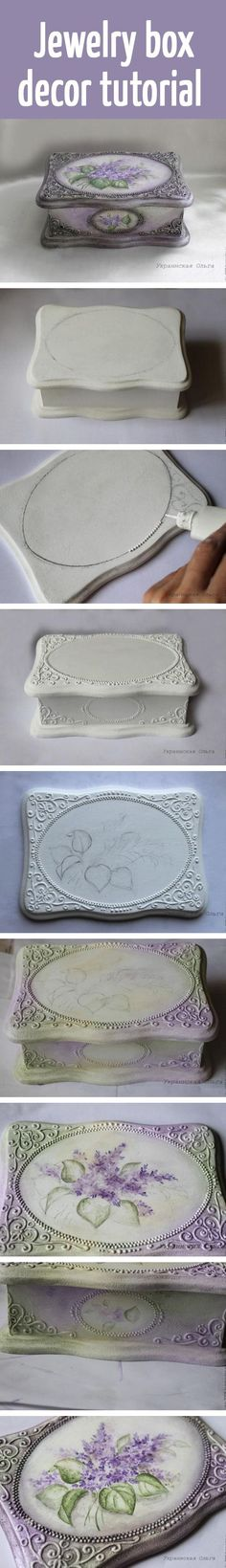 Jewelry box decor tutorial