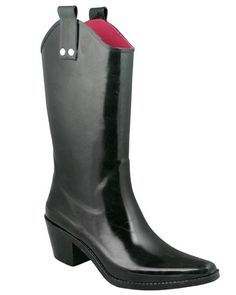 Capelli New York Shiny Solid Cowboy Ladies Rubber Rain Boot Waterproof  Rubber Made in China fe81c6b74baf