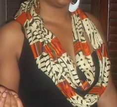 Mudcloth infinity scarf by lbanksstyles on Etsy, $13.00