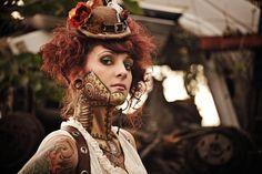 Steam punk make-up