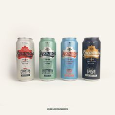 Sycamore Brewing Cans Food Packaging Design, Beverage Packaging, Coffee Packaging, Packaging Design Inspiration, Beer Brewing, Home Brewing, All Beer, Brewing Equipment, Beer Brands