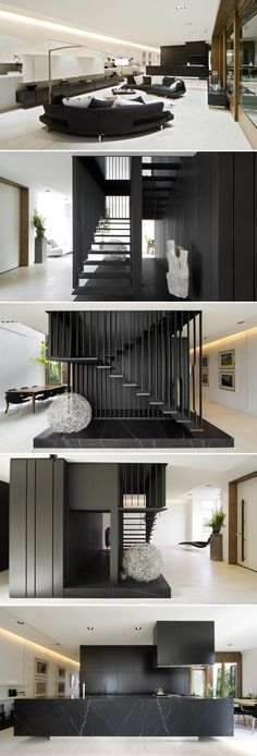 stairs- Middle Park House 2 by Chamberlain Javens Architects Interior Stairs, Interior Architecture, Modern House Design, Modern Interior Design, Luxury Home Decor, Luxury Homes, Estilo Interior, Appartement Design, Interiores Design