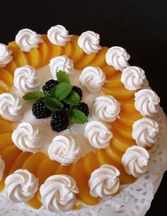 Peach Cheesecake, Hungarian Recipes, Cheesecakes, Food Art, Recipies, Cooking Recipes, Birthday Cake, Pudding, Cupcakes