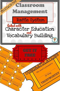 FREE! Are you looking for a fun and effective way to manage your class?  Then this raffle system is for you!