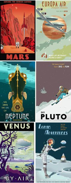 retro outer space - Google Search
