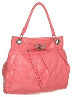 15DOLLARSTORE.COM - DOLLHOUSE Sweetheart Pleated Shoulder Bag (Coral)