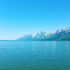 Even in the #summer the #amazingly #grandtetons have #snow on their #mountainpeaks #naturalbeauty #grandtetonnationalpark #wyoming #nature #wildlife #lakes #mountains Natural Beauty from BEAUT.E