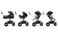 The Nuna IVVI Multi Mode Stroller features every imaginable combination of infant and toddler stroller combinations.