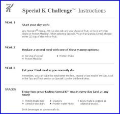 Special K challenge