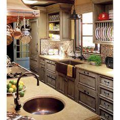 Hand hammered copper sinks by Native Trails in mediterranean kitchen by RYAN Associates General Contractors Country Kitchen, New Kitchen, Kitchen Decor, Kitchen Ideas, Colonial Kitchen, Rustic Kitchen, Kitchen Sinks, Cozy Kitchen, Copper Kitchen