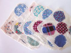 Vintage Quilt Squares Circles Primitive Folk by annmerrilldesigns, $18.00