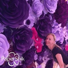 Paper flowers by PaperShik. 💜💜💜