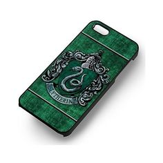Slytherin Hogwarts Harry Potter for Iphone 6 and Iphone 6s Case (Black... (32 BRL) ❤ liked on Polyvore featuring accessories and tech accessories