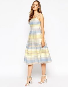 French Connection Delilah Ribbon Midi Dress