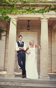 Vintage inspired wedding. Navy suit from men's express