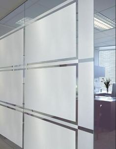 Decorative non-adhesive window film can provide privacy for your commercial job.