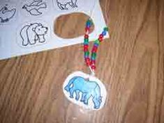 Used these to make a necklace with all of the animals, alternating a piece of pasta with a picture. May go simple and follow directions here next year since colors are in the very beginning of the year.