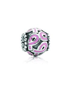 Pandora Silver Pink Ribbon with Pink Enamel Charm    Available at: www.always-forever.com