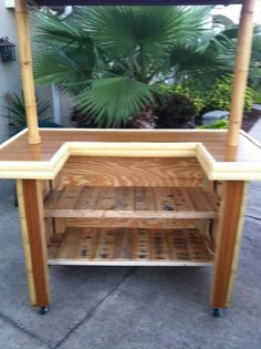Pallet tiki bar on pinterest bar tops recycled pallets and bamboo