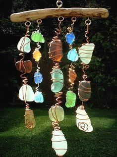 Make a Sun Catcher Sea Glass Chime @Pamela Livingston