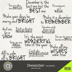 December wordarts - FREEBIE*