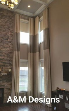 Two Story Window Treatment Ideas For Family Rooms Google Search