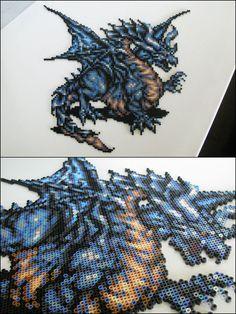 Final Fantasy 6 - Dragon - bead sprite magnet