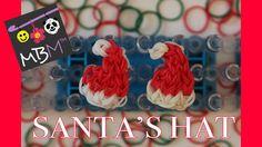 nice Rainbow Loom Band Santa Hat Charm for Christmas - EASY