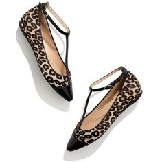Madewell MADEWELL Belle By Sigerson Morrison® Variee Leopard Flats ($260) ❤ liked on Polyvore