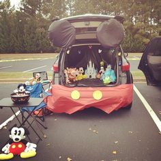 Pin for Later: 55 Thrilling Trunk-or-Treat Ideas Mickey Mouse Trunk This could be the happiest trunk on earth. Source: Instagram user juliepmac