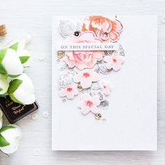 A very charming wedding card with a soft palette featuring Altenew x MISTI collab hop designed by Yana Smakula. See the video to learn some tips on picking the perfect color combination for your card. Enjoy! :) https://youtu.be/72IaKC9m8g4 www.altenew.com