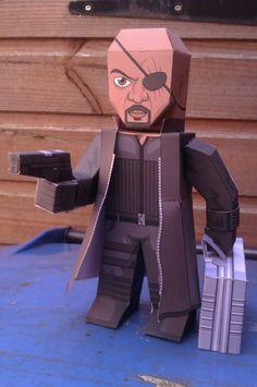 Nick Fury – Boneco 3D para Recortar e Montar!