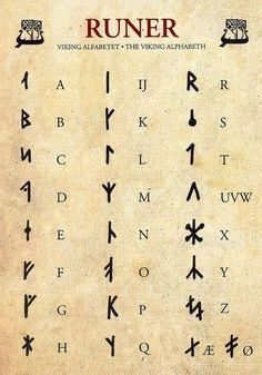Runes – Viking Alphabet by yvonne – Norse Mythology-Vikings-TattooYou can find Norse mythology and more on our website.Runes – Viking Alphabet by yvonne – Norse Myt. Alphabet Code, Alphabet Symbols, Sign Language Alphabet, Viking Runes Alphabet, Nordic Alphabet, Danish Alphabet, Alfabeto Viking, Different Alphabets, Ancient Symbols
